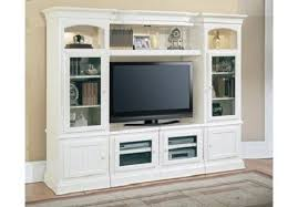 white traditional wall unit tv