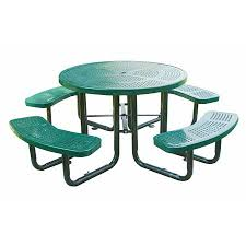 commercial outdoor 46 round perforated table select your color