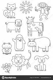 漫画の動物の塗り絵 ストックベクター Romanvolkov 150147250