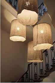 diy italian linen pendant light brown linen fabric lighting