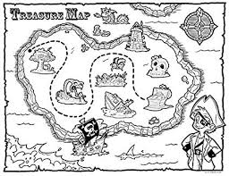 Amazoncom Treasure Map Pirate Party Favors 12 Count Coloring