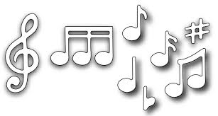 music note stamp frantic stamper precision dies small music notes set of 8