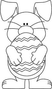 easter clipart to color. Perfect Color Black And White Easter Bunny Hugging An Egg On Clipart To Color