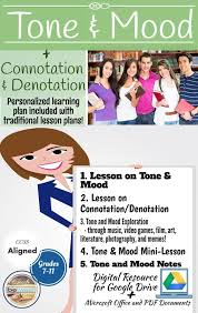 Complete Tone and Mood in Literature Bundle + Connotation and ...