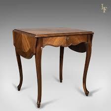 Image Furniture 19th Century French Antique Sofa Table Kingwood Drop Flap Occasional C1880 Antiquescouk Antique Antique Rocking Chair English Edwardian Windsor Stick