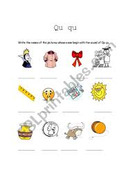 Phonics is a method of teaching kids to learn to read by helping them to match the sounds of letters, and groups of letters, to distinguish words. English Worksheets The Sound Of Qu