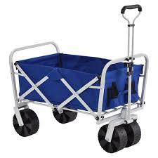 11 cu ft 21 in w steel folding wagon in blue fbw3621b the home depot