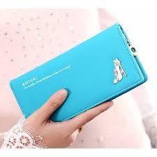 <b>Wallet Female Long</b> Section Cute <b>Wallet</b> 3 Folder High Heels ...