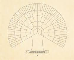 Ancestor Fan Chart Free Family Tree Template Blank Free Printable Family