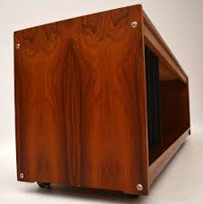 1960s Record Cabinet Rosewood Danish Retro Vintage Sideboard Cabinet