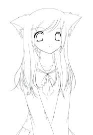 Coloring Page Girl Anime Coloring Pages Girl Cute Girl Coloring