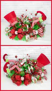 elf centerpiece christmas legs decor top hat santa decorating ideas trad full size