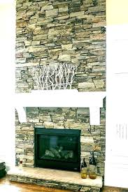 replace brick fireplace with stone refacing brick fireplace veneer stone over with cleaner refacing brick fireplace