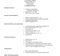 Staggering College Application Resume Formatsplates Sample For High