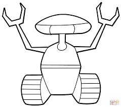 Small Picture Crawler Robot coloring page Free Printable Coloring Pages