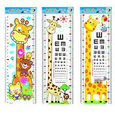 How To Make An Eye Chart Poster Kids Children Visual Self Adhesive Cartoon Giraffe Eye Chart Poster Wall Sticker Ebay