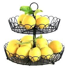 countertop fruit baskets pink garden colander harvest basket surpahs 2 tier countertop