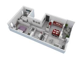 Small Apartment Floor Plans One Bedroom 25 More 2 Bedroom 3d Floor Plans