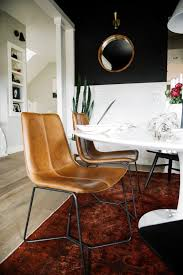 one room challenge west elm leather dining chairs suburban es