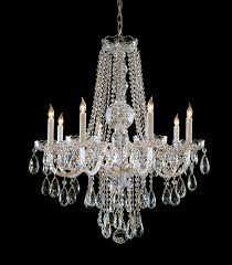 crystorama traditional crystal 8 light polished chrome crystal chandelier dd in clear spectra crystal lighting etc