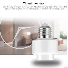 Smart Light Bulb Holder Details About E27 Wifi Smart Light Bulb Socket Adapter Lamp Holder Plug Google Home Alexa Hth9