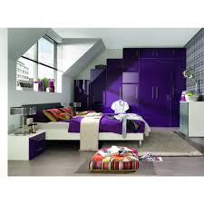 Mobel Bedroom Furniture Welle Mobel Five Plus High Gloss Reduced Height Wardrobe W50cm H144cm