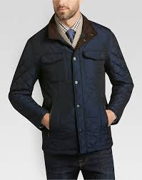 Pronto Uomo Navy Quilted Modern Fit Jacket - Men's Casual Jackets ... & Pronto Uomo Navy Quilted Modern Fit Jacket - Mens Casual Jackets, Outerwear  - Men's Wearhouse Adamdwight.com