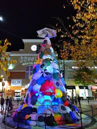Silver Spring Christmas Tree Lighting East Moco Christmas Tree Wall Of Positivi Tree In Downtown