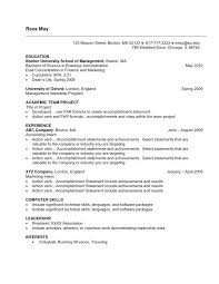 Resume Example For Undergraduate