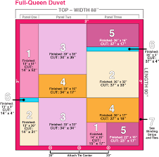 tutorial on making patchwork duvet cover in three sizes king queen and twin