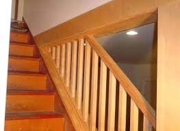 replace stair railing. How To Install Stair Railing Wall Rail Brackets And Handrail Inside Decor Cost Replace G