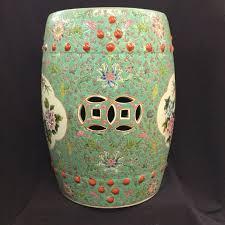 vintage chinese barrel shaped ceramic