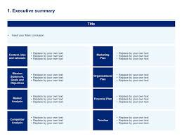 executive business plan template business plan template simple business plan template simple