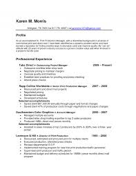 Production Manager Resume Cover Letter Supervisor Resumes Production Example Manufacturing Sales Rep Call 9