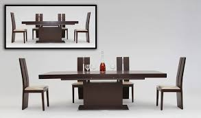 modern red oak extendable dining table