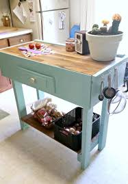 Small Picture Teal Kitchen Butcher Block Island And On Pinterest idolza