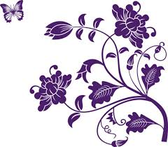 Happy walls Purple Flower Floral Vines. ADD TO CART