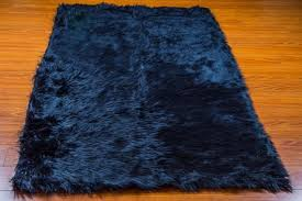 5 x 8 new premium navy faux fur area rug nursery room decor home accents gy