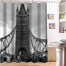 free london tower bridge custom shower curtain more size waterproof fabric shower curtain for bathroom