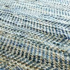 rag squares woven cotton rug denim