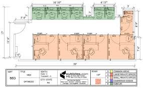 the office floor plan. Floor Plan For Office Building Cubicle Layout 663 Square Footage With 6 Cubicles And 5 The