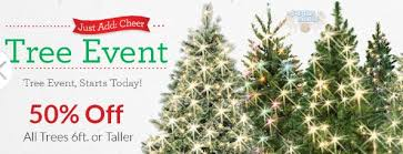 Michaels Canada: 50% off Christmas Trees