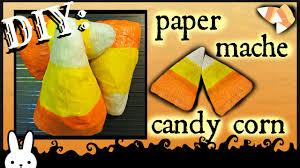 DIY: How To Crepe Paper Mache Candy Corn / Halloween Decor /Tutorial -  YouTube