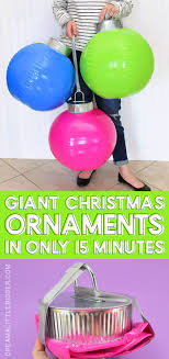 diy giant ornaments