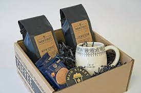 Finding the perfect gifts for coffee lovers can be hard. Coffee Gift Box Cup Of Courage Box Main Street Roasters