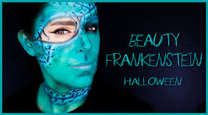 beauty frankenstein makeup tutorial face paint