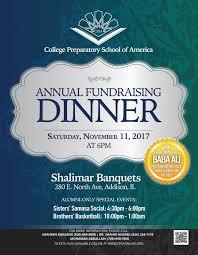 Fundraising Flyer Annual Fundraising Dinner CPSA College Preparatory School Of America 13