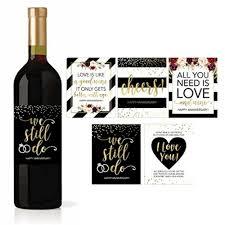 Hadley Designs Hadley Designs 5 Wedding Anniversary Wine Label Stickers For