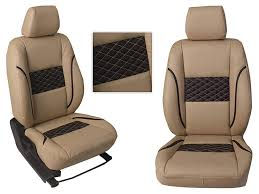 picture of hyundai verna 2017 custom fit leatherette 3d car seat covers pl201