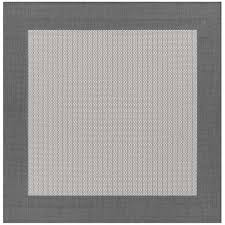 couristan recife checd field grey white 9 ft x 9 ft square indoor